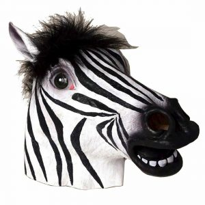 Zebra Overhead Latex Mask