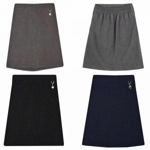 Girls Heart Attachment School Uniform Skirt