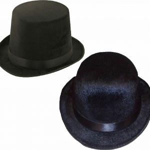 Mens Lincoln And Bowler Velour Hat