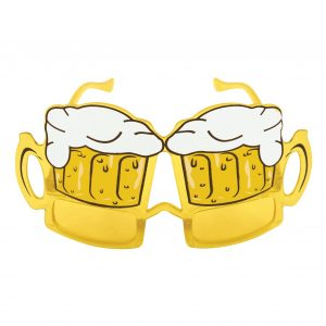 Adult Yellow Beer Lens Glasses