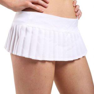 Ladies Plain Mini Pleated Skirts