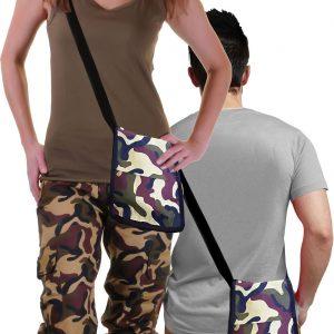 Unisex Camouflage Shoulder Bag Pouch