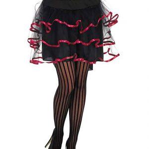 Womens Black Trim Layered TUTU Skirt