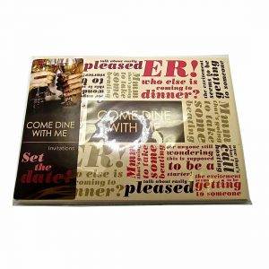 Come Dine With Me Invitation Cards