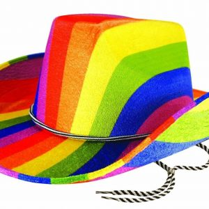 Adults Rainbow Cowboy Felt Hat