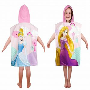 Children Disney Princess Rapunzel Hooded Poncho