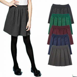 Girls School Uniform All Round Box Pleated Skirt
