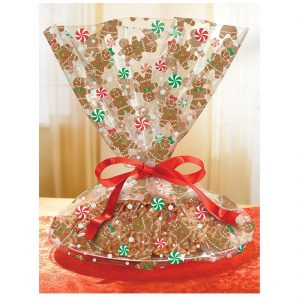 Xmas Gingerbread Cookie Tray Wrap Gift
