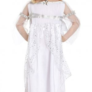 Girls White Fairy Angel Costume