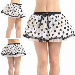 Ladies Polka Dot Skirts With Net Petticoat