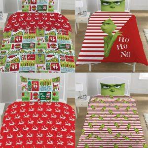 The Grinch Xmas Blanket Duvet Cover Set