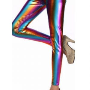 Girls Rainbow Metallic Legging Pants