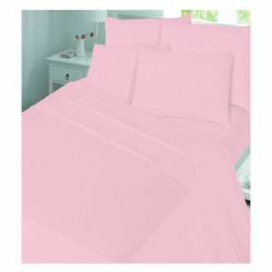 Plain Flannelette Cot Duvet Cover Set
