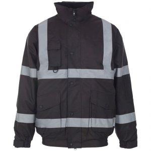 Men Hi Vis Warm Bomber Jacket