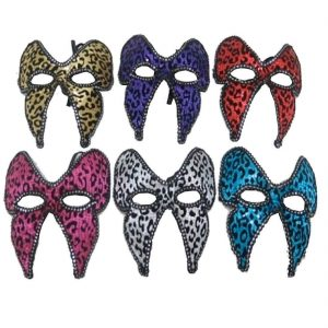 Assorted Leopard Face Masks 6 Pcs
