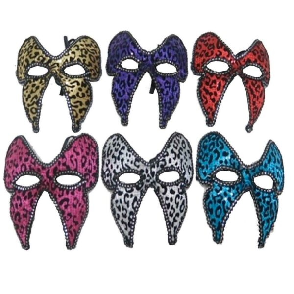Masquerade Ball Leopard Eye Masks for Halloween Costumes Dress up