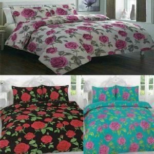 Meadow Rose Floral Duvet Cover Pillow Case Set