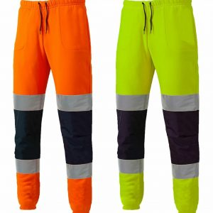 Men High Visibility 2 Tone Striped Joggers