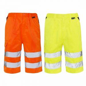 Mens Hi Vis Safety Shorts
