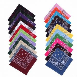 Unisex Paisley Bandana Pack Of 12