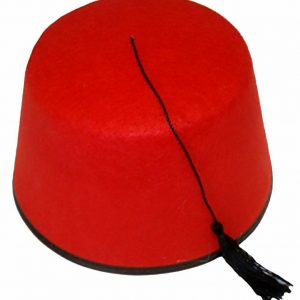 Unisex Red Fez Hat