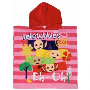 Kids Teletubbies Character Hooded Poncho Towel