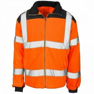Adult High Visibility Rain Patch Fleece Jacket