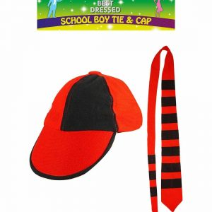 School Boy Tie & Cap Set
