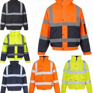 Mens High Visibility 2 Tone Parka Jacket