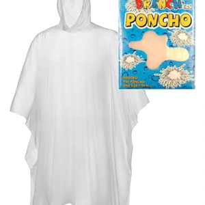 Disposable Clear Waterproof Hooded Poncho