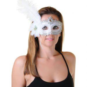 Fashion Venetian Feather Masquerade Eye Mask