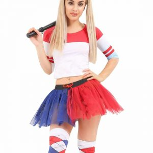 Womens Red And Blue Costume