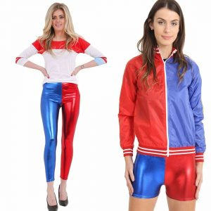 Womens Red Blue Costume Set